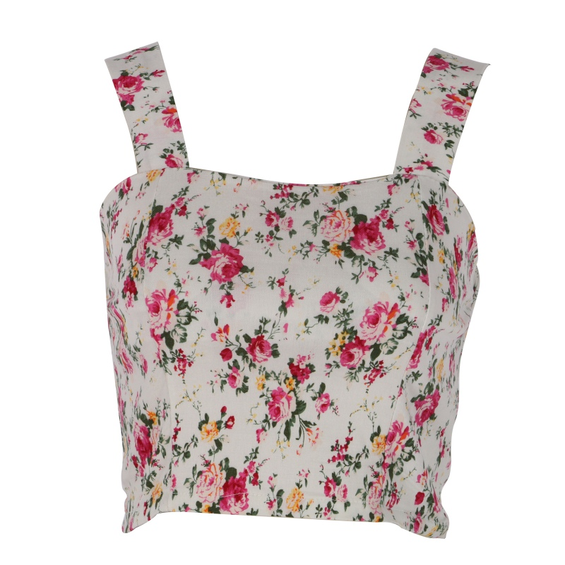 249beb7d625664 2017 Fashion Women Sexy Casual Tank Tops Bustier Bra Vest Floral Crop Top  Bralette Blouse Top-in Tank Tops from Women s Clothing on Aliexpress.com