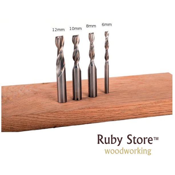 SET Of 4PCS, 6,8,10,12mm, Upcut Spiral Router Bit, 1/2 And 1/4 Shank