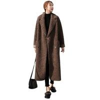 2019Winter New Parkas Sheep Shearing Coats Imitation Lamb Fur Fur One Jacket Female Long Sheep Curl Thick Warm Women Fur Outwear