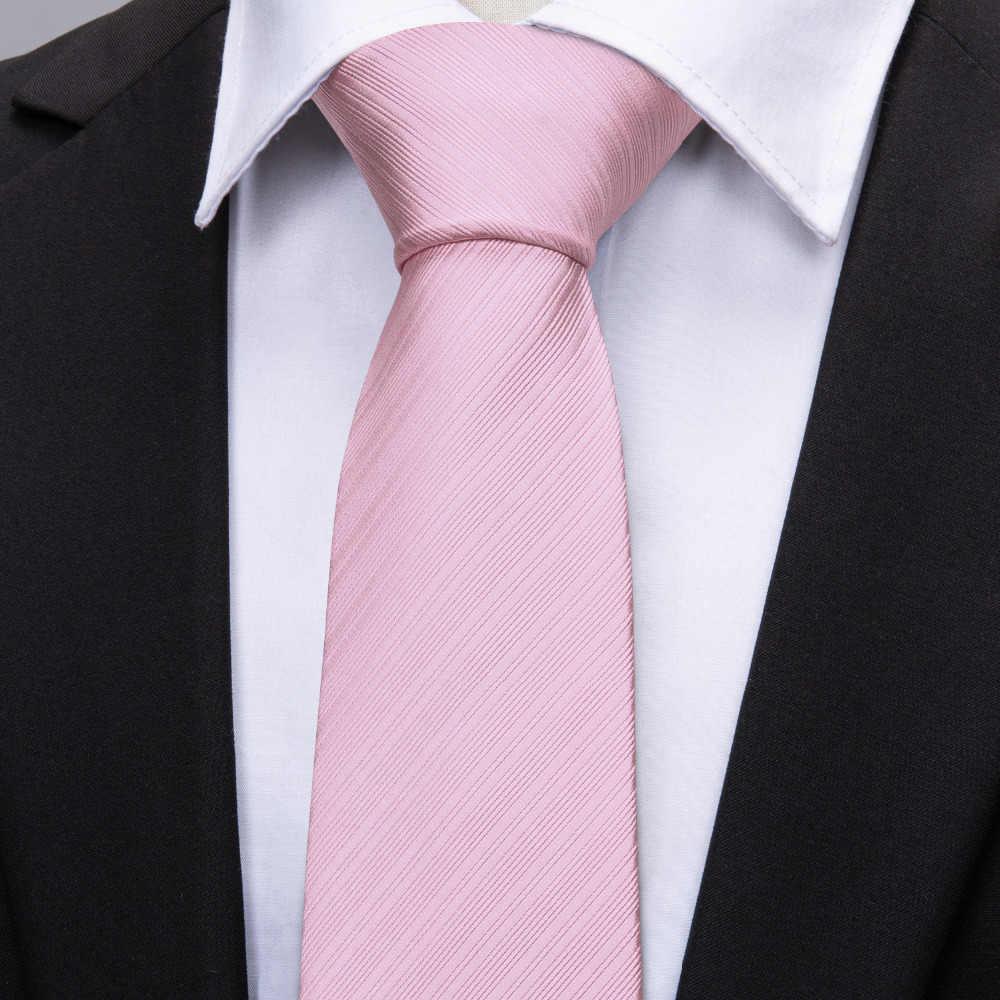 40b5977087b2d ... Hot Sale Wedding Pocket Square Pink Solid Ties For Men Suit Gravatas  Corbatas 8.5cm Necktie ...