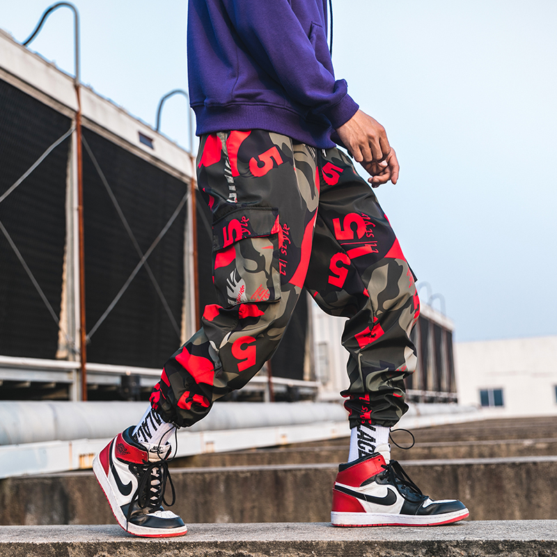 Image 4 - 2019 New Men Camouflage Cargo Pants Men Street Harem Pants Fitness Runners Trousers Comfortable Ankle Length Sweatpants LBZ44-in Harem Pants from Men's Clothing