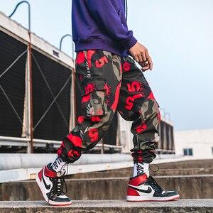 Image 4 - 2020 חדש גברים הסוואה מכנסיים מטען גברים רחוב הרמון מכנסיים כושר רצים מכנסיים נוח קרסול אורך מכנסי טרנינג LBZ44