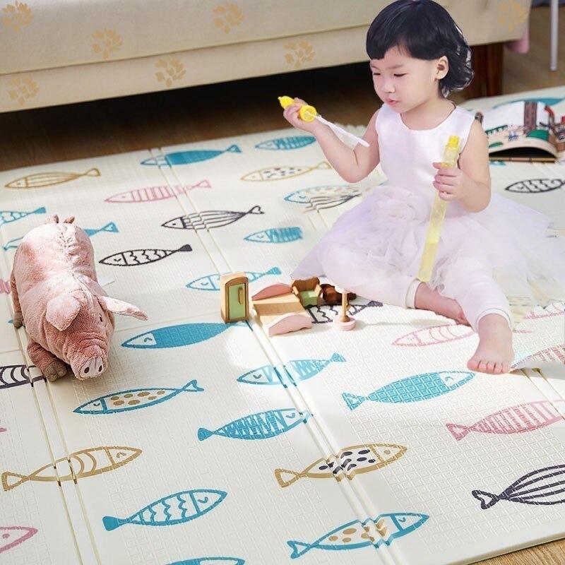 150X200cm tapis de jeu pour bébé Xpe Puzzle tapis pour enfants épaissi Tapete Infantil Gym bébé chambre ramper Pad tapis pliant pour enfants - 4