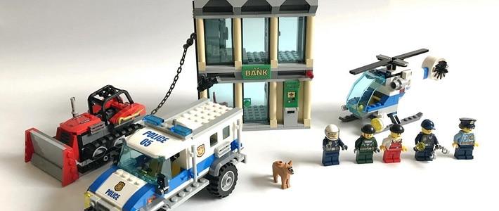 ベラ 10659 都市警察ブルドーザーブレークイン銀行ビルディングブロックセットのおもちゃ互換高層建築 60140 子供のための  グループ上の おもちゃ & ホビー からの ブロック の中 3
