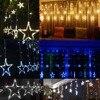 Christmas Lights AC 220V EU Plug Romantic Fairy Star LED Curtain String Lighting For Holiday Wedding