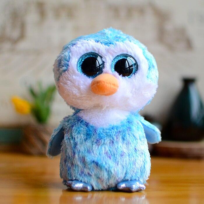 36854e92bab Ty Vaias Gorro Grandes Olhos Pinguim Cubo De Gelo Azul Crianças De Pelúcia  brinquedos Bonecas Presentes Do Bebê Beanie Boos Adorável Kawaii Bichos de  ...