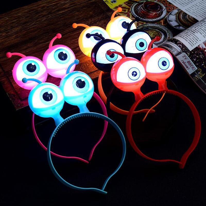 Augen Alien Haarreif Leuchten Glowing Spielzeug Haarband Show Party Haarschmuck