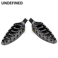 Motorbike Parts 1Pair Black CNC 45 Degrees Male Mount Aluminum Footrests Foot Pegs For Harley Dyna Fatboy FXD UNDEFINED