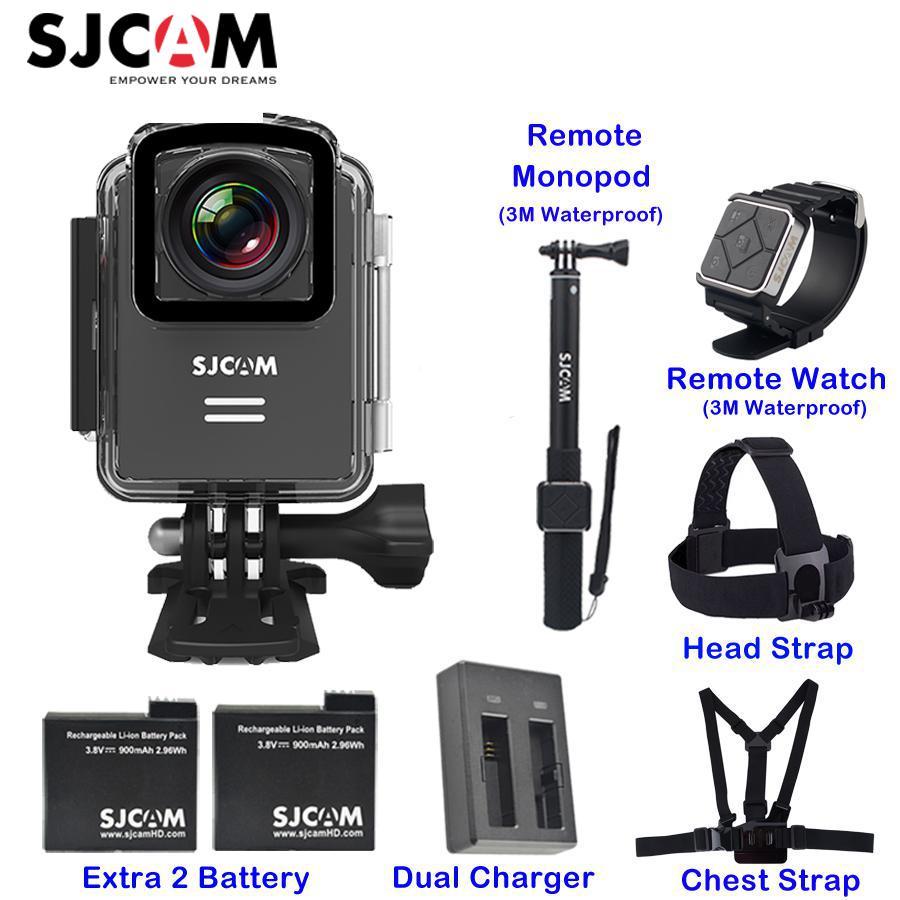 Original SJCAM M20 1,5 ''pantalla Wifi NTK96660 30 m impermeable Gyro remoto soporte acción deportes acción cámara Mini DVR