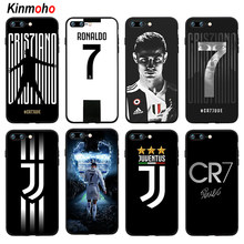 f90db83be8 Football Juventus Cristiano Ronaldo CR7 Phone Case Cover For iPhone 7 8  Plus 6 6s 5s SE X XS MAX XR 10 7Plus Soft Black TPU Capa