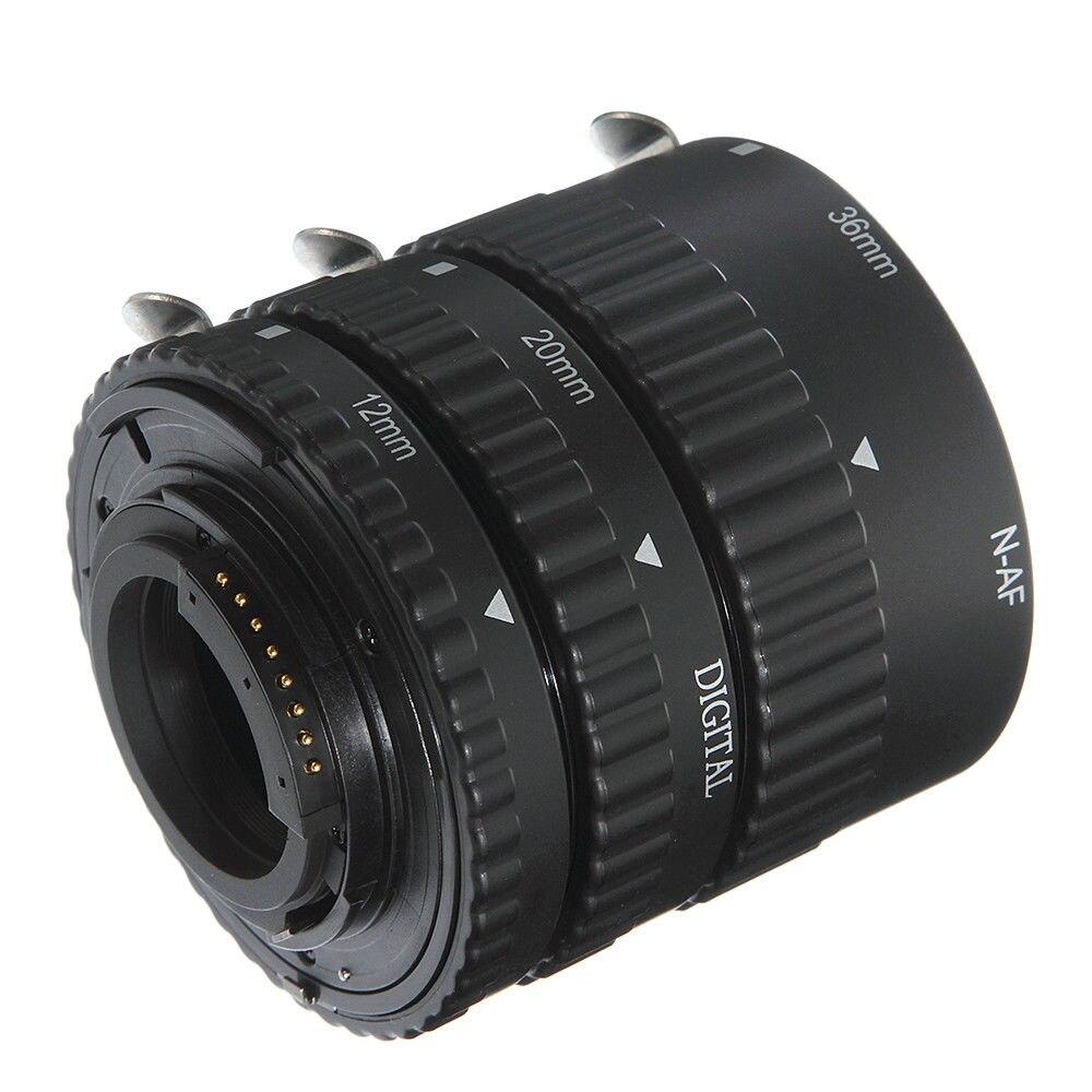 FOTGA Auto Focus 12 + 20 + 36mm Tube d'extension Macro pour objectif Nikon AF AF-S DX D G