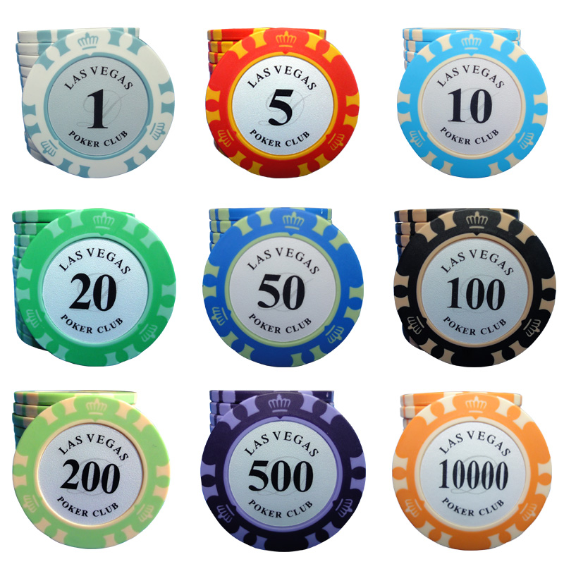 casino club ceramic poker chips