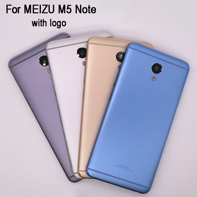 Original New 5.5 Inch Battery Door Back Cover Housing Case For MEIZU M5 Note With Camera Lens without Power Volume Buttons