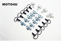 MOTO4U Motorcycle Quick Release D RING 1 4 Turn Race Fairing Fasteners Rivet 17mm 10Sets
