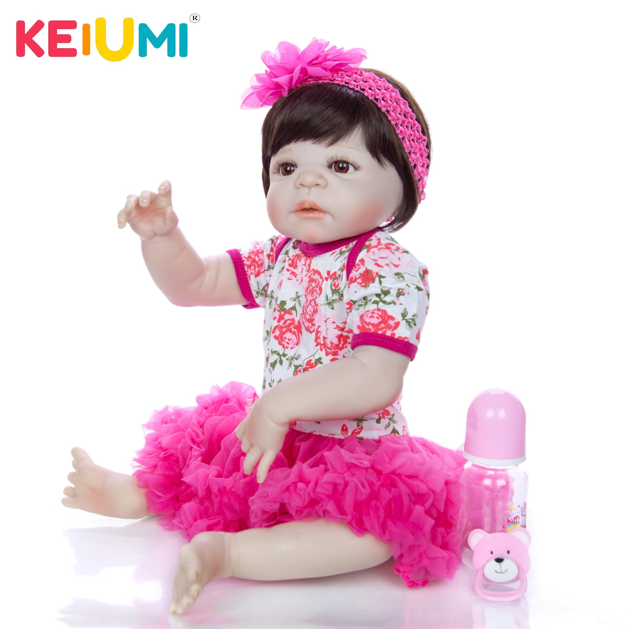 Oyuncaklar ve Hobi Ürünleri'ten Bebekler'de KEIUMI Moda Reborn Kız Bebek 23 ''57 cm Gerçekçi Yenidoğan Prenses Bebek bebek çocuklar için doğum günü hediyesi Yatmadan Oyun'da  Grup 1