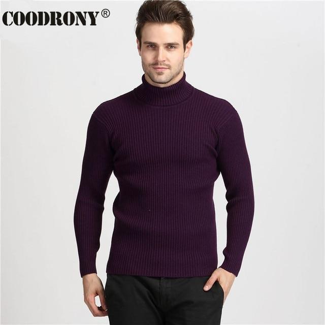 Winter Thick Warm Cashmere Turtleneck Men's Sweaters  5