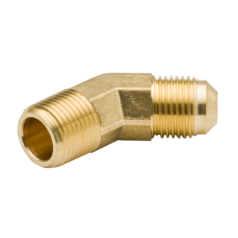 2pcs Brass Pipe Fitting SAE 45 Degree Male Elbow With Male