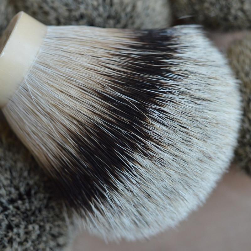 DSCOSMETIC 26mm high mountain badger hair shaving brush knots finest silvertip natrual soft badger hair brush head for man beard