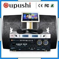 Семья KTV для караоке вечеринок плеер системы + 2 т 19 сенсорный экран w/песня мощность усилители домашние динамик/Аудио/Звук/рог micphone