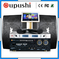 Family Karaoke Party ktv player system + 2T+ 19 touch screen w / song + power amplifier +speaker/audio/Sound/horn+micphone