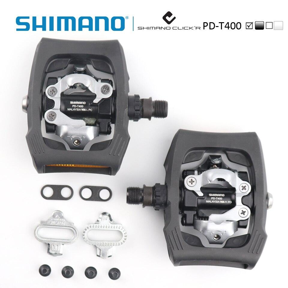 Shimano PD-T400 Click'R SPD pédale avec plaques SM-SH56 ville/vélo de tourisme vélo auto-bloquant pédales