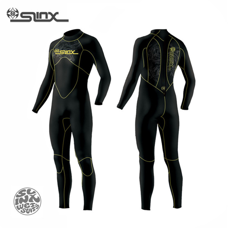 SLINX DISCOVER 1106 5mm Neoprene Men Fleece Lining Warm Wetsuit Swimming Snorkeling Triathlon Spearfishing Scuba Diving Suit slinx 1106 5mm neoprene men scuba diving suit fleece lining warm wetsuit snorkeling kite surfing spearfishing swimwear page 2