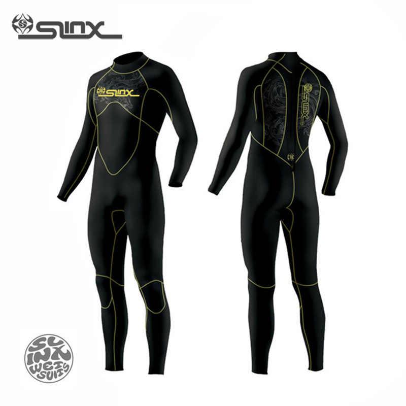 Slinx Menemukan 1106 5 Mm Neoprene Pria Lapisan Bulu Hangat Wetsuit Renang Snorkeling Triathlon Spearfishing Scuba Diving