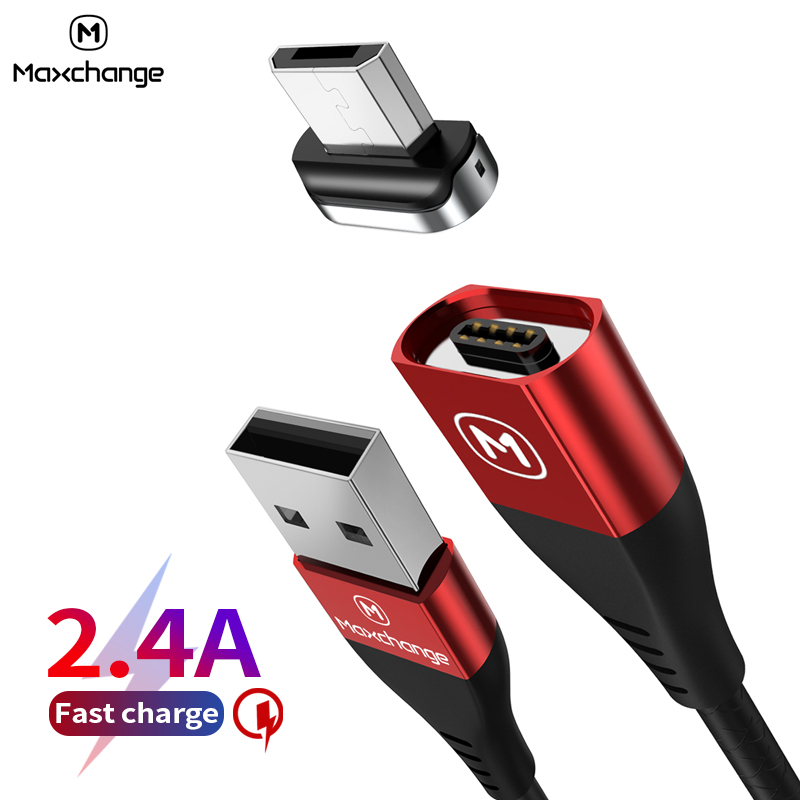 Magnetic Micro USB Cable 2 4A Fast Charge USB Data Cable For font b Samsung b
