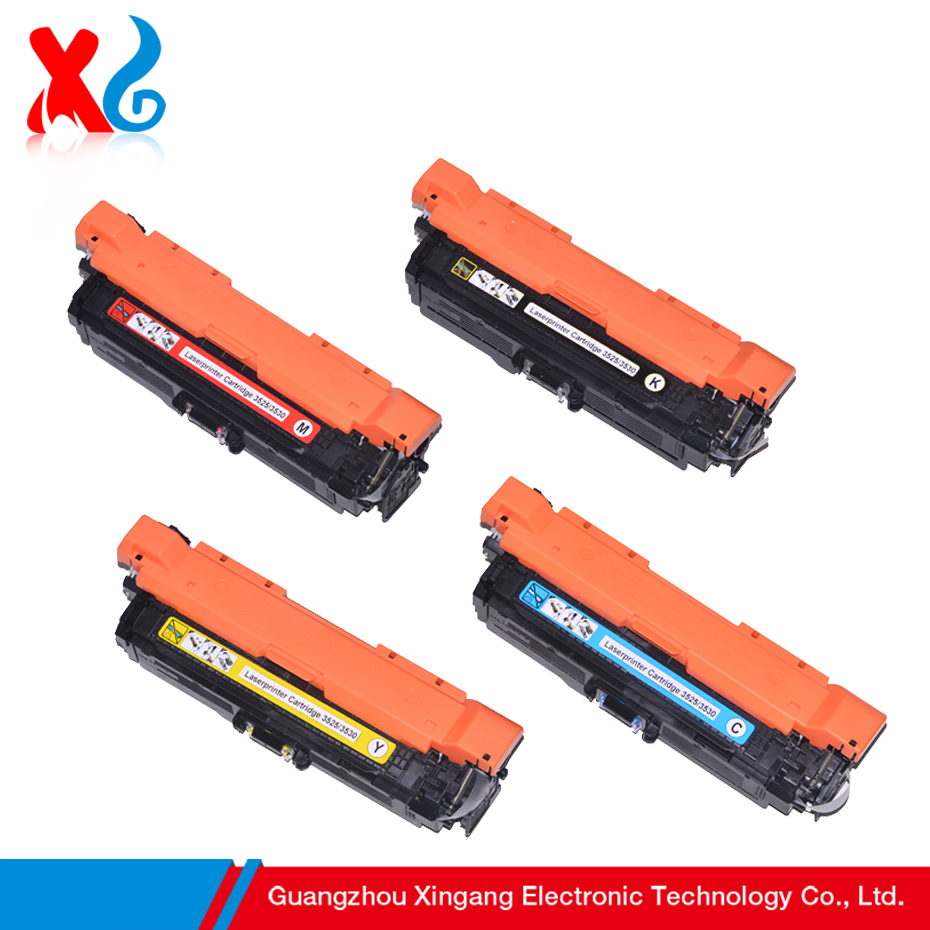 XG CMYK 504A Toner Cartridge for HP Color LaserJet CP3525 CP3525dn CP3525n CP3525x CM 3530 CM3530fs CE250A CE251A CE252A CE253A