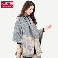 190*60 CM 2016 Hiver Cachemire Pashmina écharpe de luxe marque femmes d'hiver foulards et châles Imprimé floral Cardigan foulards femme