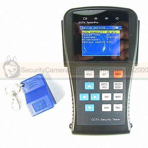 Monitor CCTV Tester:Signal Intensity Test, DC12V out, PTZ, UTP, Audio