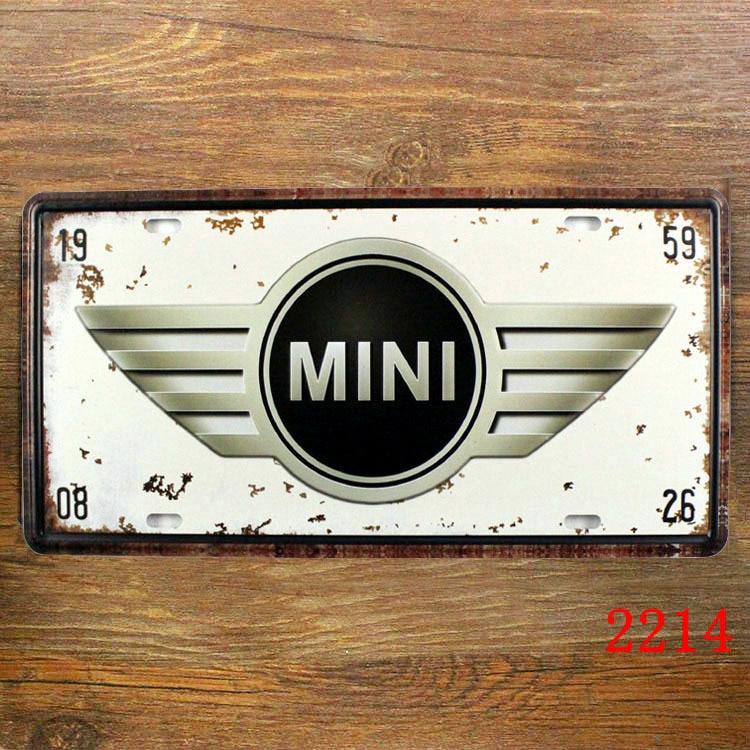 Germany Clic Car License Plate Vintage Tin Sign Bar Pub Home Kitchen Wall Decor Retro Metal