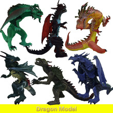 2018 Original Large Dinosaur Toy Dragon Model Animal Children's Gift PVC Material Model Dinosaur Toys hot toy mosasaurus dinosaur model hand paint soft pvc animal action