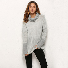 female sweater plus size woman oversized pullover cute korean women sweaters computer knitted patchwork turtleneck