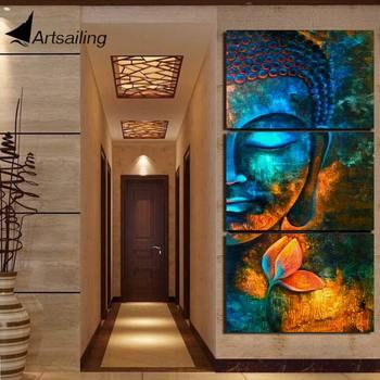 HD Печатный 3 шт Абстрактная Картина на холсте будда картина Современный домашний декор Настенная картина для гостиной холст печать NY-7609C