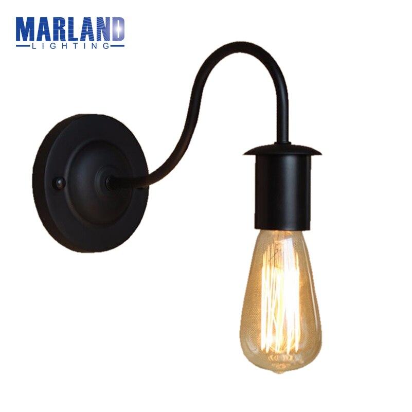 Lâmpadas de Parede simples preto de ferro luzes Utilização : Industrial