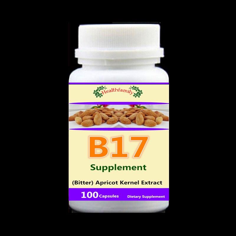 Suplemento de vitamina B17, (Amargo) Extrato de Semente de Alperce, Anti-envelhecimento e Anti-câncer, reduzir o açúcar no sangue e lipídios-100 pcs/bottle
