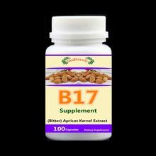 Витамин B17 добавка (Горький) экстракт косточки абрикоса, анти-против старения, раке, снизить уровень сахара в крови и липидов-100 шт/упаковка