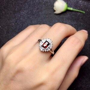 Image 2 - Natuurlijk granaat Ring 925 Zilveren Saffier Blauwe Saffier nieuwe product bijgewerkt elke dag om focus op winkeliers.