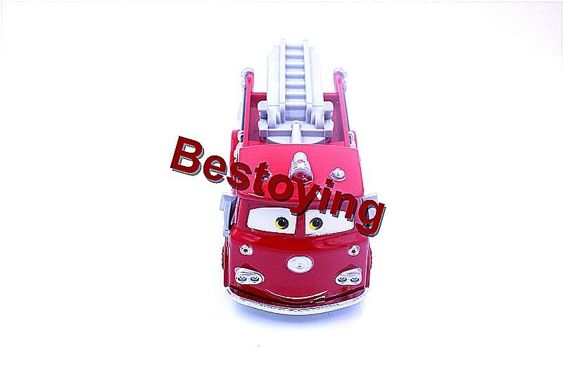 Pixar Cars Kırmızı Firetruck 1:55 Ölçekli Diecast Metal Alaşım Modle Için Sevimli Oyuncaklar Çocuk Hediyeler tarafından Kayıtlı Posta