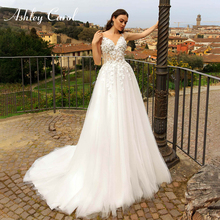 Ashley Carol Beach Wedding Dresses Court Train Bride Dress