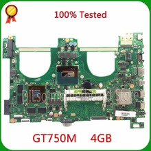 For ASUS N550jv Laptop Motherboard i7-4700HQ GT750 4GB GPU Mainboard 100% tested new motherboard