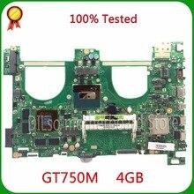 KEFU N550JV Pour ASUS N550jv Mère D'ordinateur Portable i7-4700HQ GT750 4 GB GPU Carte Mère 100% testé nouvelle carte mère