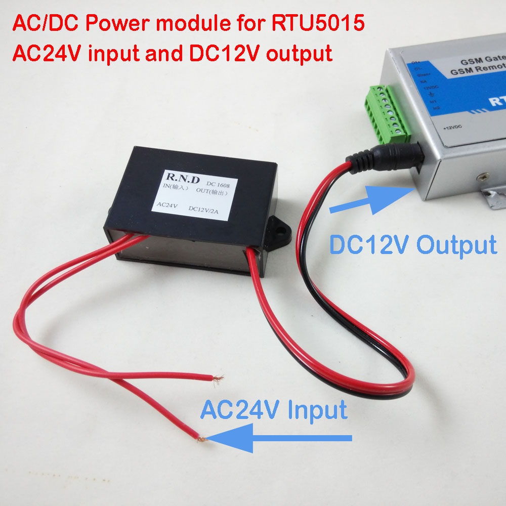 Realistic Free Shipping Post Mail Power Module Ac24v Input And Dc12v Output For Rtu5015 Rtu5024 Gsm Gate Door Opener Finely Processed Access Control Access Control Accessories