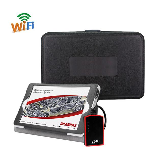 100% original vdm ucandas v3.9 software herramienta de diagnóstico auto profesional instalado en tablet pc completo sistemas de apoyo