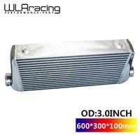 WLR RACING 600*300*100mm Universal Turbo Intercooler bar&plate OD=3.0 Front Mount intercooler WLR IN817 30