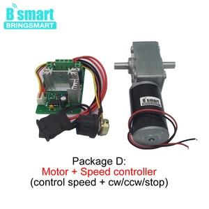 Image 3 - Bringsmart 12V DC Double Shaft Worm Gear Motor High Torque 70kg.cm 24 volt Motor Mini Turbine Worm Reducer Reversible A58SW31ZYS