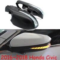 dynamic Car styling for Honda Civic mirror light 10th car accessories 2016 2017 2018 fog lamp Civic LED DRL daytime light