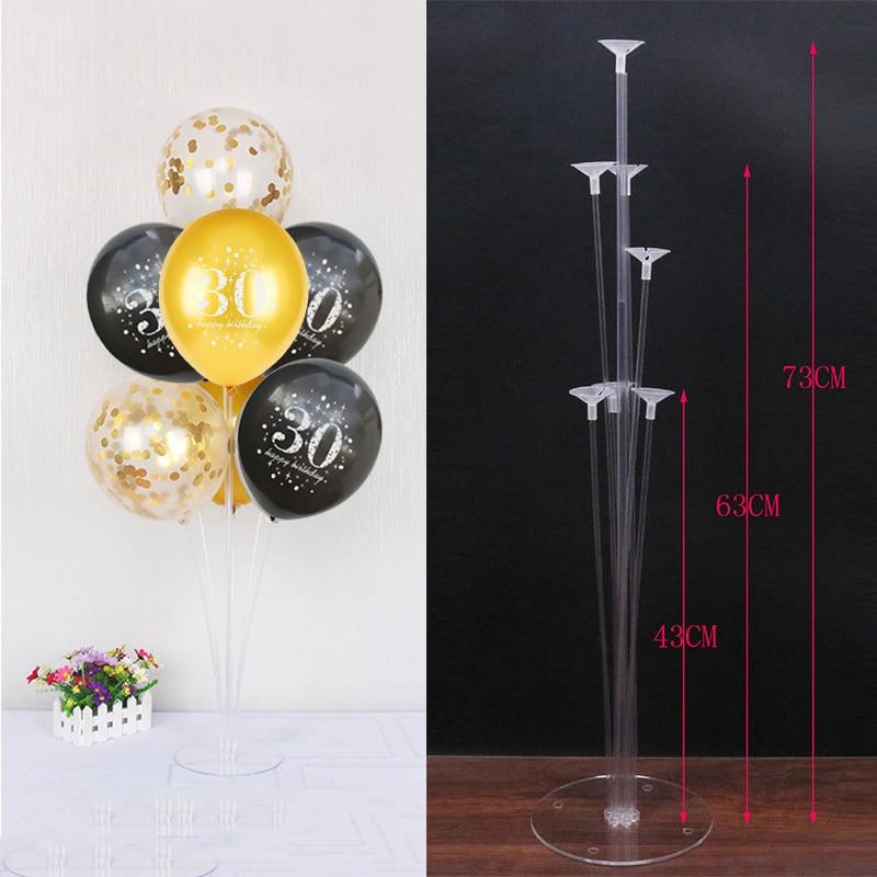 30 40 50 60 лет украшения на день рождения взрослые воздушные гелиевые цифры конфетти для воздушного шара цифровой Baloons Декор стенда латексные ...