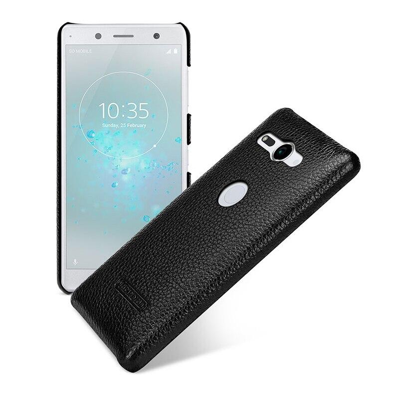 Luxury Litchi Genuino del Cuoio di Caso per Sony Xperia XZ2 Compatto da 5.0 pollici Della Copertura Shell Fundas Pelle Ultra-sottile telefono capa